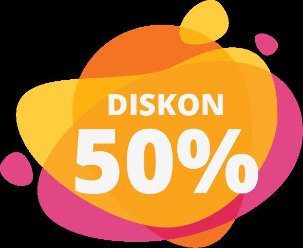 PROMO DISKON 50% PASANG BARU - MEI 2019
